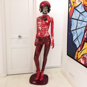 "David Cintract ""Mannequin"" rouge"