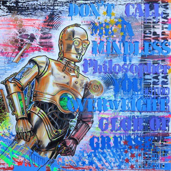 """David Cintract """"6PO"""" 140 x 140cm."""