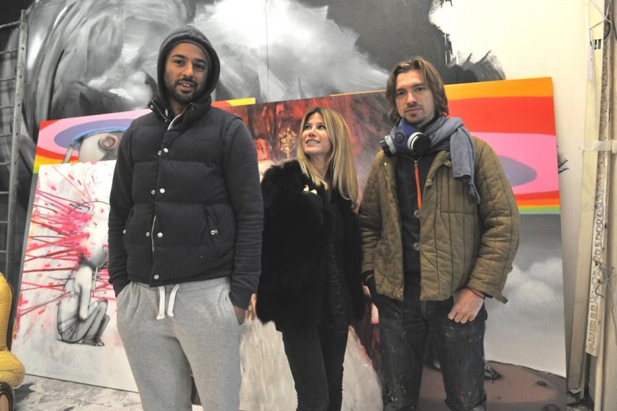 Pascal Vilcollet, Géraldine Zberro et Seth Globepainter