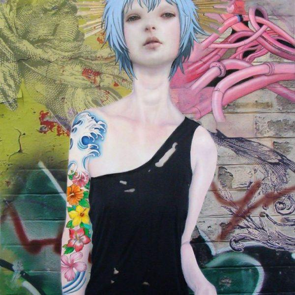 "Teiji Hayama ""syrene"" 80 x 100 cm."
