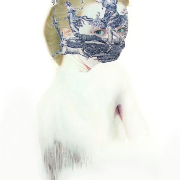 "Teiji Hayama ""Fille à la toile"" 100 x 80 cm."