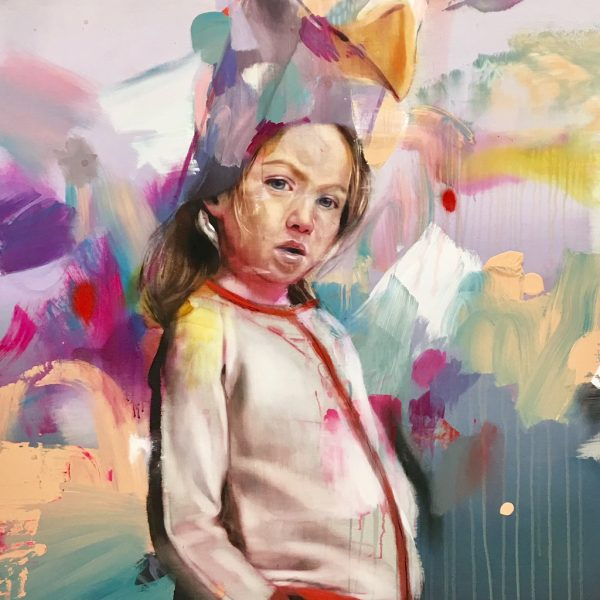 """Pascal Vilcollet """"Girl"""" 195 x 130 cm"""