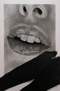 """Valentin van der Meulen """"Bouche"""" 195 x 130 cm."""