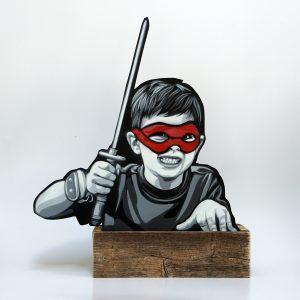 """Joe Iurato """"Kid Ninja"""" 41 x 49 x 10 cm."""