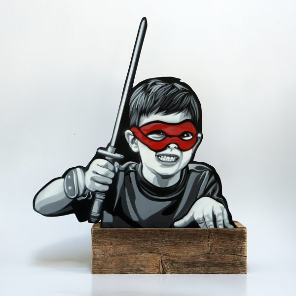 "Joe Iurato ""Kid Ninja"" 41 x 49 x 10 cm."