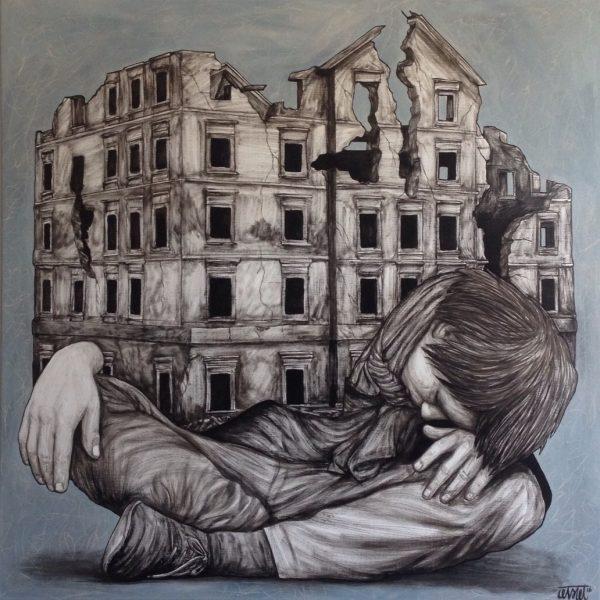 """Levalet """"Home"""" 100 x 100 cm."""
