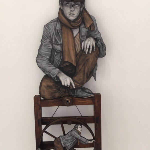 """Levalet """"La roue de la fortune"""" 170 x 50 cm."""