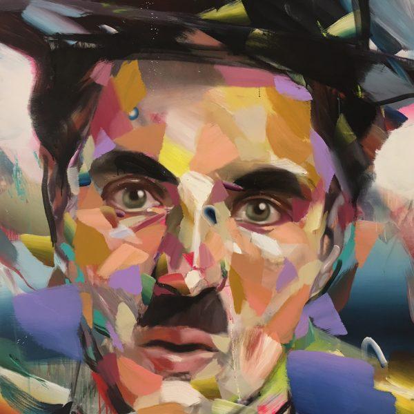 Pascal Vilcollet- Charlie Chaplin 200 x 160 cm.