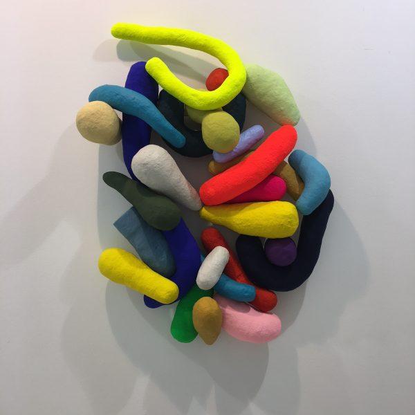 """Pascal Vilcollet """"Modul 1"""" Sculpture murale 88 x 62 cm."""