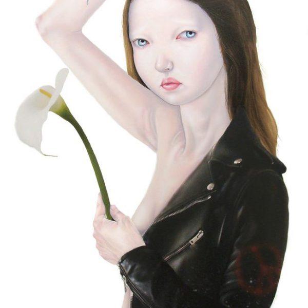 Teiji Hayama – « Hera » huile sur toile 100 x 70 cm