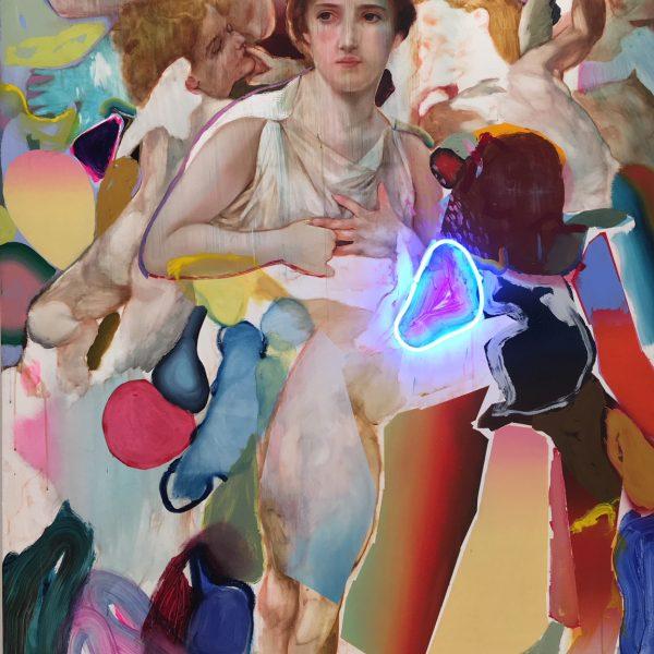 """Pascal Vilcollet """"Neon 1"""" 210 x 140 cm"""