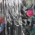 "HiJack ""Bubble Gum Girl""  182 x 122 cm"