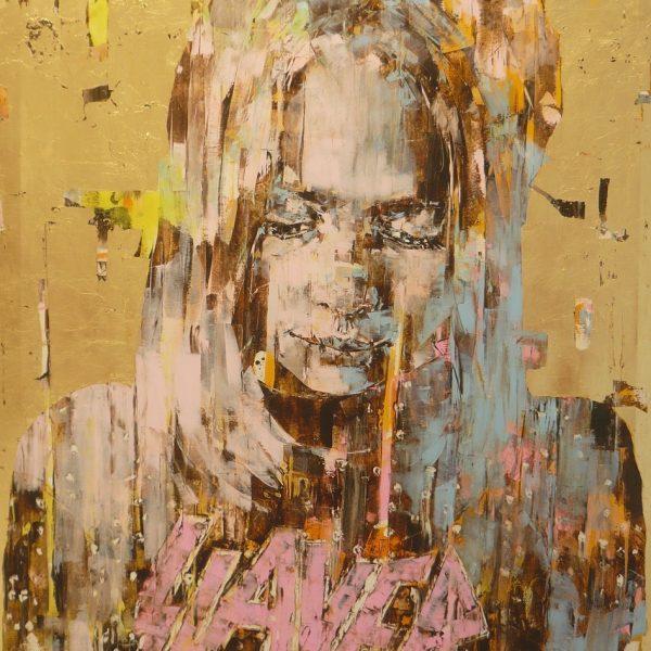 "Marco Grassi ""Super Golden Slayer"" 140 x 185 cm."