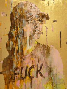 "Marco Grassi ""Super Golden Fuck"" 140 x 185 cm"