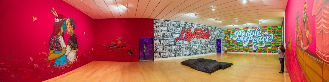 """Saner et Elliot Tupac """"Wall drawings - Icônes urbaines"""" exposition au musée d'Art Contemporain de Lyon du 30 septembre 2016 au 15 janvier 2017"""