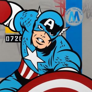 Seen'captain america 140 x 140 cm