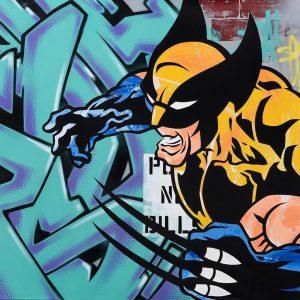 """Seen """" Wolverine"""" 150 x 150 cm"""