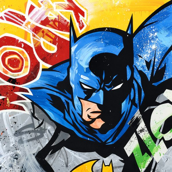 "Seen ""Batman"" 120 x 120 cm"