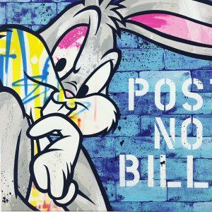 "Seen Bugs Bunny '100x100 cm"""