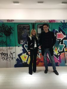 Géraldine Zberro et Yannick Buesso de urban Art Fair à la galerie Géraldine Zberro vernissage Zenoy