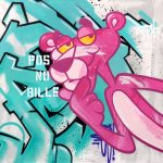 "Seen ""Pink Panther"" 120x120cm"