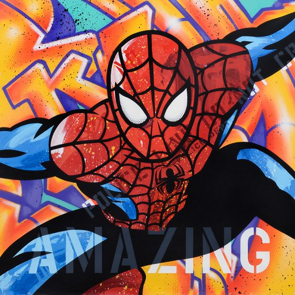 "Seen ""Spiderman"" 120 x 120 cm"