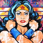 "Seen ""Wonder Woman"" 244 x 140 cm"