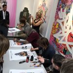 Séance de dédicace durant Urban Art Fair 2017  avec Zenoy, Levalet, Seen et Seth Globepainter sur le stand de la Galerie Géraldine Zberro.