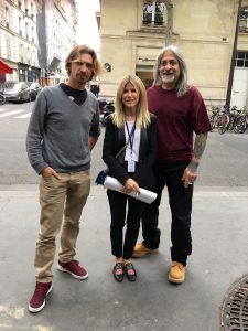 Seth et Seen avec Géraldine Zberro lors de l'Urban Art Fair à Paris avril 2017