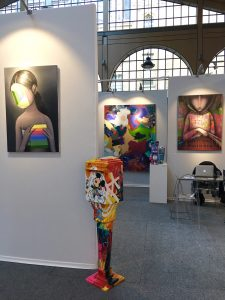 Stand Galerie Géraldine Zberro sur Urban Art Fair 2017.
