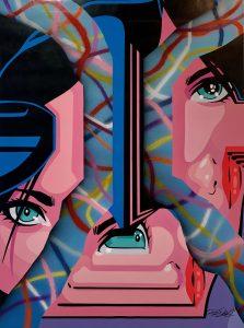 "Pro176 ""Green eyes venusians"" 130 x 100 cm."