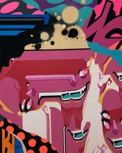 "Pro176 ""Pink"" 130 x 100 cm."