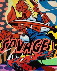 """Pro176 """"Savage"""" 162 x 130 cm."""