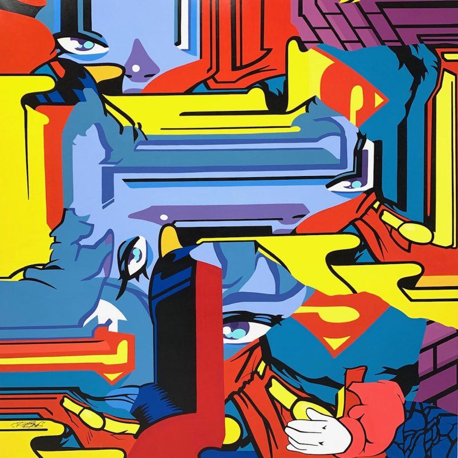 "Pro176 ""Superman"" 150 x 150 cm."