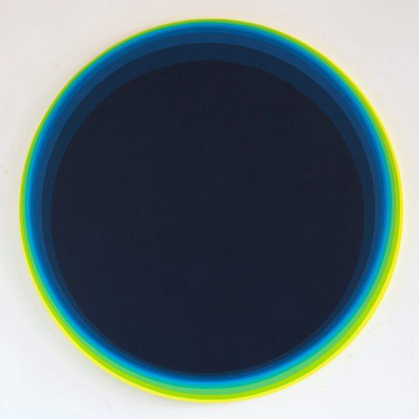 """Jan Kalab """"Ocean deep Blue"""" Acrylic on canvas 2017.  150 cm."""