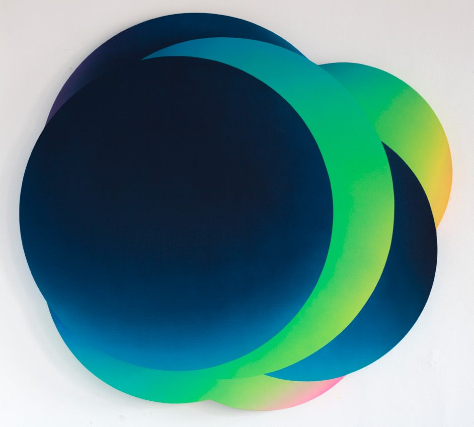 "Jan Kalab ""Cloud blue green"" 152 x 165 cm"