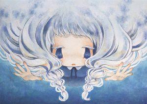 Ryoko kaneta Rain Cloud 36 x 51 cm.