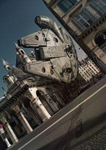 "Laurent Pons ""Rivoli fly"" Star wars 94 x 64 cm."