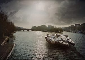 "Laurent Pons Star Wars ""Morning Seine"" 70 x 99 cm."