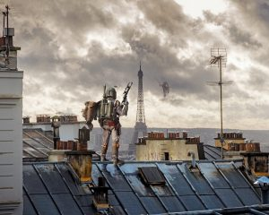 """Laurent Pons """"Boba Roof Paris""""  85 x 70 cm."""