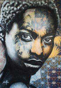 """Mateo """"Wall paper"""" 170 x 130 cm."""