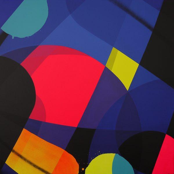 """Zest """"Sans titre 2"""" 100 x 100 cm."""