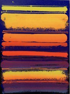 """Zest """"Fréquence fluo"""" 130 x 97 cm"""