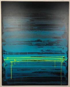 """Zest """"Fréquence noir"""" 162 x 130cm"""