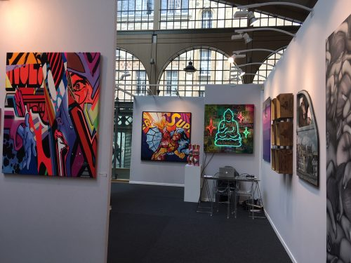 Galerie Géraldine Zberro Booth Urban art Fair Paris 2018