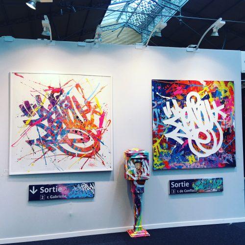 Urabn Art Fair Paris 2018 Zenoy sur le stand de la Galerie Géraldine Zberro