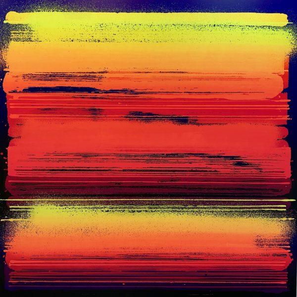 """Zest """"Fréquence"""" 150 x 150 cm."""