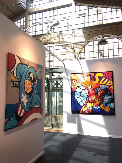 Seen on booth Galerie Géraldine Zberro Urban Art Fair 2018