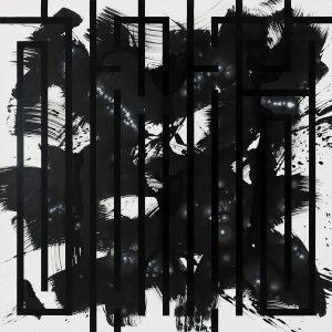 """l'Atlas """"Black l'Atlas"""" 150 x 150 cm."""