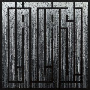 """l'Atlas """"Grey rain"""" 150 x 150cm."""